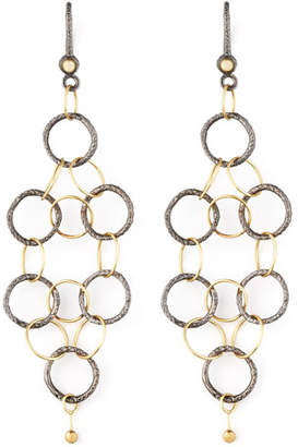 Dominique Cohen Noir Yellow Gold Mesh Earrings