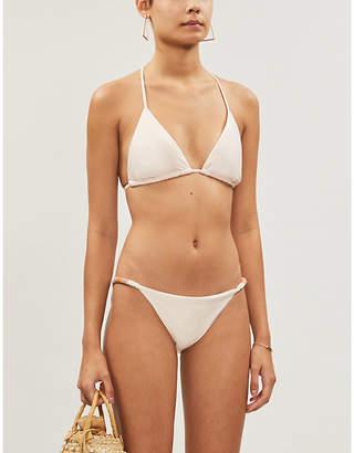 Vix Ella bead-embellished bikini top