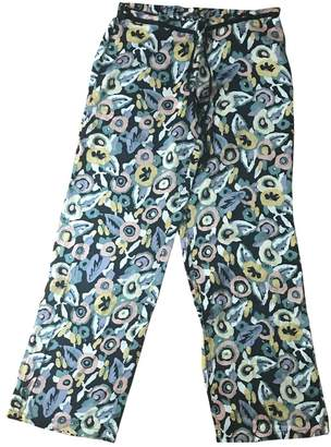 Princesse Tam-Tam Multicolour Silk Trousers for Women