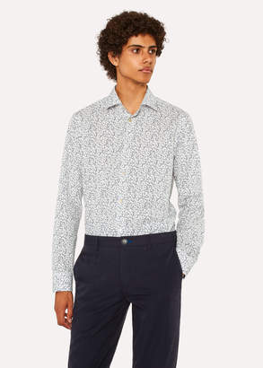 Paul Smith Men's Tailored-Fit White 'Garden Floral' Print Cotton Shirt