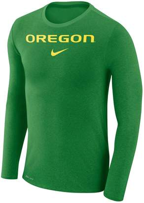 Nike Men's Oregon Ducks Marled Long-Sleeve Dri-FIT Tee