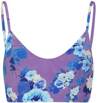 Sophie Cameron Davies Floral Blossom Silk Crop Top