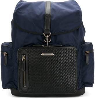 Ermenegildo Zegna wide compartment backpack