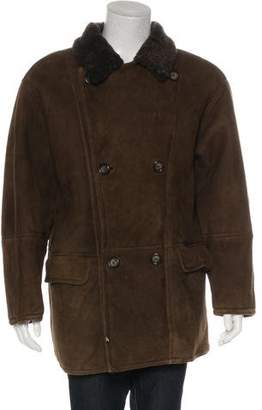Giorgio Armani Shearling Double-Breasted Coat
