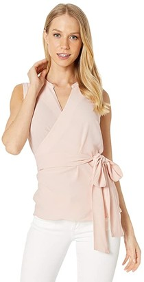1 STATE 1.STATE Sleeveless Wrap Front Tie Waist Blouse