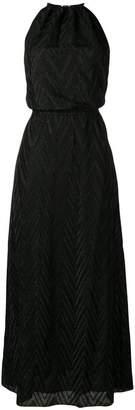 M Missoni zigzag knit halterneck maxi dress