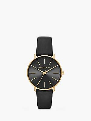 Michael Kors Women's Pyper Leather Strap Watch