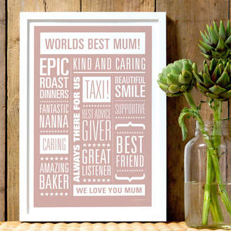 The Drifting Bear Co Personalised Memories Print