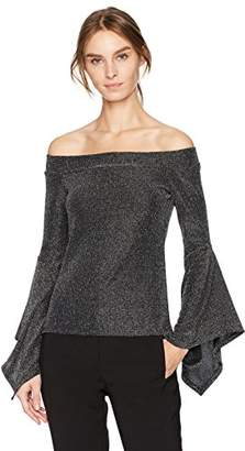 BCBGMAXAZRIA Women's Liane Knit Off-Shoulder Top