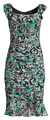 Nanette Lepore Women's Ruched Silk Dress - Size 0