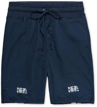 RtA Jersey-Trimmed Printed Nylon Drawstring Shorts