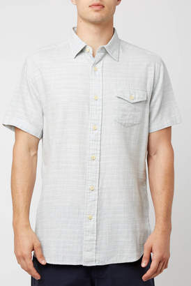 Grayers Blue Cream Horizon Summer Twill Button Down Shirt