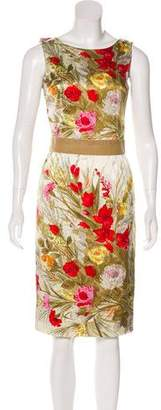 Dolce & Gabbana Floral Print Satin Dress
