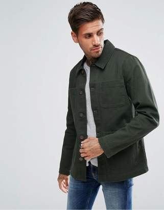 Asos DESIGN worker jacket in khaki