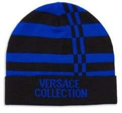 Versace Logo Stripe Beanie