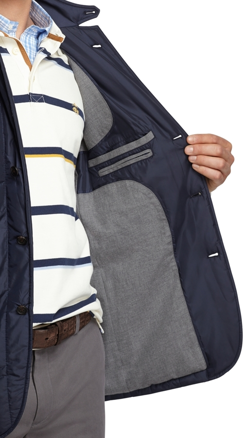 Brooks Brothers Vertical Quilted Blazer