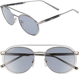 Salvatore Ferragamo 54mm Round Sunglasses