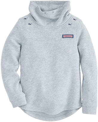 Vineyard Vines Girls Funnel Neck Embroidered Shep Shirt