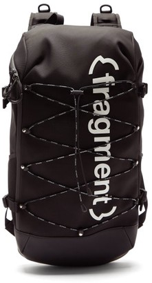 Moncler 7 Fragment - Logo Print Canvas Backpack - Mens - Black