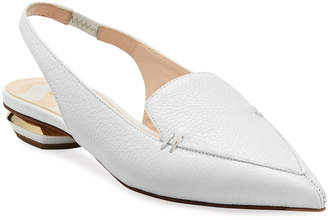 Nicholas Kirkwood Beya Leather Slingback Loafer Flats