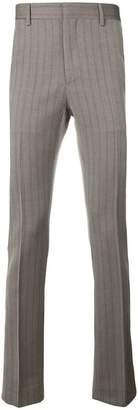 Calvin Klein striped straight leg trousers
