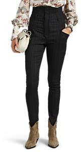 Isabel Marant Women's Karly Pinstriped Slim Trousers - Charcoal