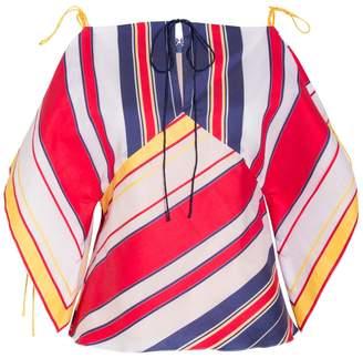Alexis Mabille Handkerchief Bayadere Top