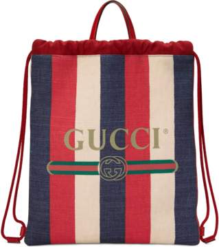 Gucci Print medium drawstring backpack