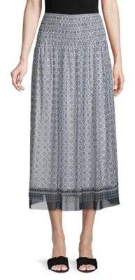 Max Studio Patterned Midi Skirt
