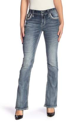 Rock Revival Easy Topstitched Boot Cut Jeans