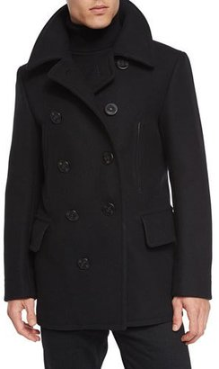 TOM FORD Wool-Blend Pea Coat, Black $4,390 thestylecure.com