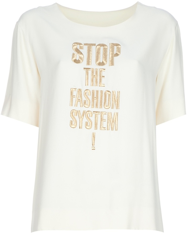 Moschino Vintage embroidered t-shirt