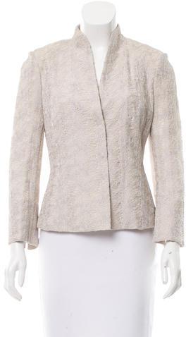 AkrisAkris Pattern Button-Up Blazer