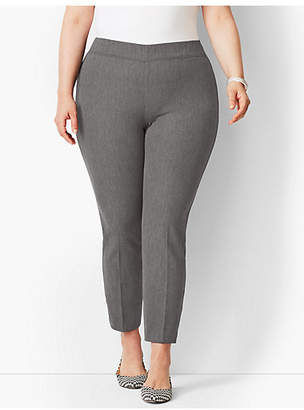 Talbots Bi-Stretch Pull-On Skinny Ankle Pant - Curvy Fit/Charcoal