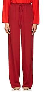 The Row Women's JR Stretch-Silk Wide-Leg Pants - Magenta