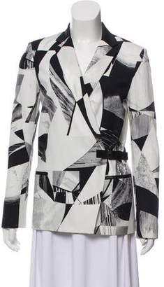 Helmut Lang Photograph Print Wrap Blazer
