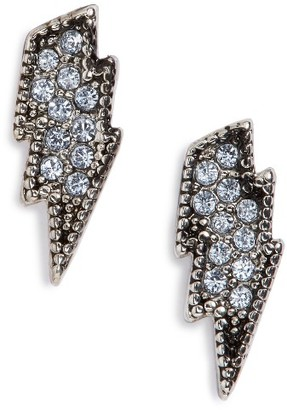 Women's Marc Jacobs Mj Coin Lightning Stud Earrings $45 thestylecure.com