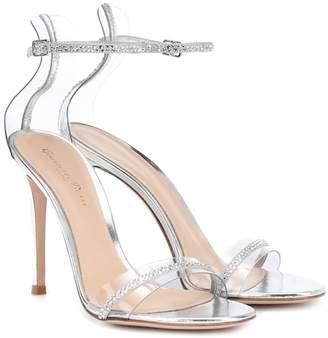 Gianvito Rossi Crystal Plexi 105 sandals