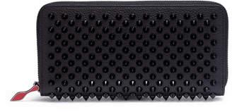 Christian Louboutin Panettone black monotone leather spike wallet