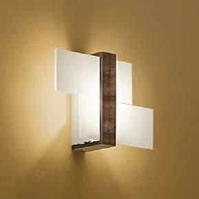 Holz-Wandleuchte Triad 35 cm