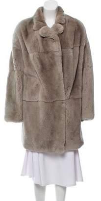 Yves Salomon Knee-Length Fur Coat
