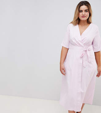 Yumi Plus Wrap Midi Dress