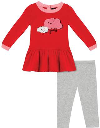 Juicy Couture Cloud Appliqué Dress & Legging Set for Baby