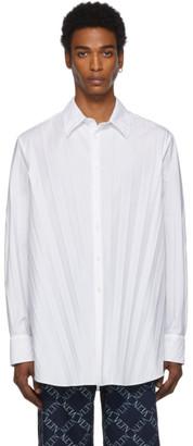 Valentino White Plisse Shirt