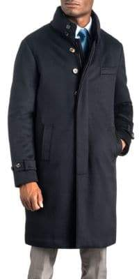 Norwegian Wool Long Cashmere Quilted Coat