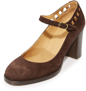 A.P.C. Chaussures Heloise Mary Jane Pumps $470 thestylecure.com