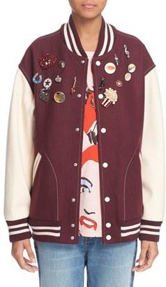 Women's Marc Jacobs Embellished Varsity Jacket $1,600 thestylecure.com
