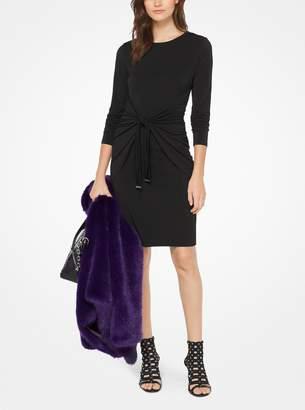 MICHAEL Michael Kors Matte-Jersey Tie-Waist Dress