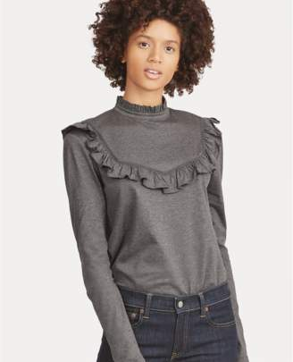 Polo Ralph Lauren Ruffle-Trim Cotton-Blend Top