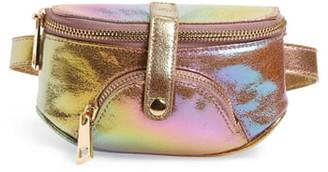 Malibu Skye Hologram Faux Leather Belt Bag